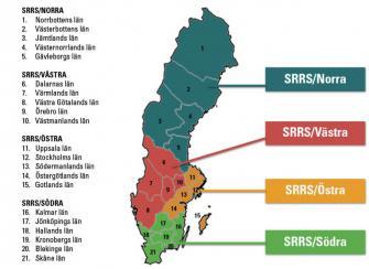 <p>SRRS  lokalavdelningar från och med den 30 december 2014.</p>